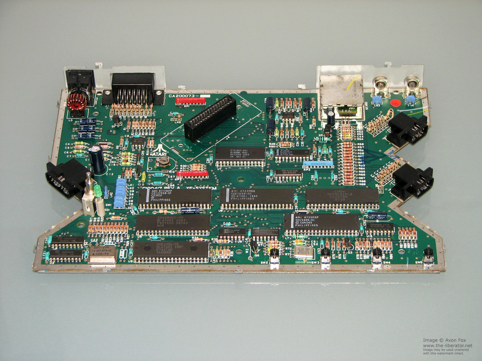 Atari Xegs Xe Game System Rev A Green Motherboard